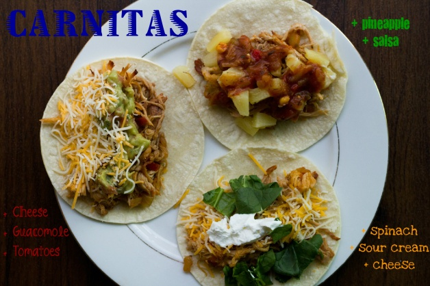 Recipe // Slow Cooker Carnitas, 3 Ways